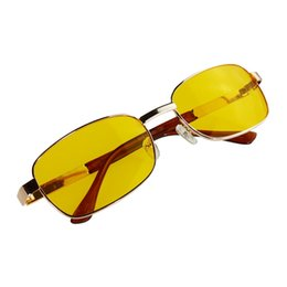 Wholesale Eye Vision Lens - UV Sunglasses Night Vision Driving Glasses Yellow lens etal + Resin UV400 cool design free shipping