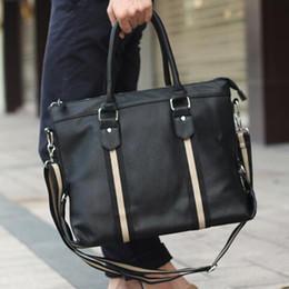 Wholesale Mens Designer Leather Messenger Bag - Wholesale-Men messenger bags mens leather briefcase tote men in leather shoulder bag man handbags designer handbags high quality V2G55