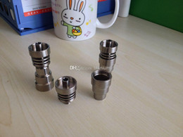 Wholesale Universal Adjustable - Universal Domeless Titanium Nail 14mm - 18mm Adjustable Male or Female