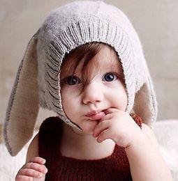 Wholesale Girls Handmade Sweaters - New Children's Accessories Brand oeuf nyc Sweater Caps Girls Braid Hat Sweaters Knit Handmade Cute Pigtail Cap Rhinestone Hats Grey BY0000
