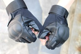 Wholesale Fingerless Baseball Glove - Free shipping new sale gloves BlackHawk Hell Storm Tactical Half Finger fingerless Gloves Motobike Motorcycle bike Cycling gloves