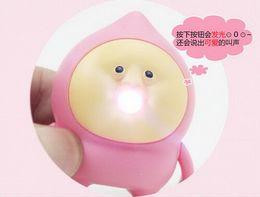 Wholesale Wholesale Price Finder - Factory Price cute Fart peach jun LED sound light keychains flashlight sound cartoon toys Japanese animation key chains child gift