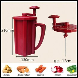 Wholesale Tornado Potato Cutters - 2017 NEW Newest Tornado Potato Spiral Slicer Cutter Twist Red Color Potato Twister Machine