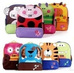 Wholesale Baby Boy Canvas - children kids shoulder bags boys grils cute cartoon animals backpacks hand bags kids school bags baby kids satchel bag 8 style