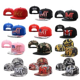 Wholesale Wholesale Snapback Team Caps - Wholesale-Full black the team money Snapback caps hiphop adjustable hat men & women classic baseball Hats Cheap