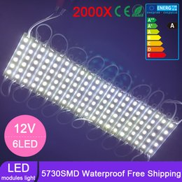 Wholesale Degree Super Wide Angle - 2000pcs by DHL Super Bright SMD 5730 LED Module Lights DC12V 6LEDs Module Waterproof 180 Degree Wide Beam angle with Lens