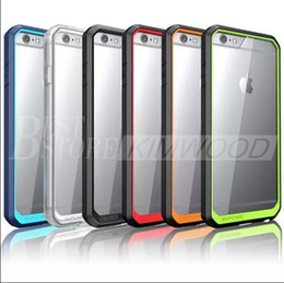 Wholesale Case Iphone Usa - USA supcase Hybrid tpu Colorful Bumper Clear Transparent Hard pc back cover For iPhone 6 6plus 6s samsung S6 edge plus Note5