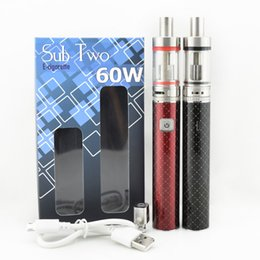 Wholesale Electronics Cigarettes Starter Kit - Sub Two Starter Kit Electronic Cigarettes 60W E Cig Battery with Subtank Mini Atomizer Vape Vaporizer Cigarette