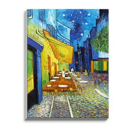 Wholesale Vincent Van Gogh Abstract - Cafe Modern Impressionism Famous Artist Vincent Van Gogh Art Print Poster Wall Picture Canvas Oil Painting Restaurant Home Decor