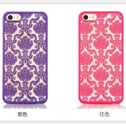 Wholesale Blue Henna - Fashion Vintage Damask Mandala Datura Henna Flower Matte Hard Plastic PC Translucent Case Cover For iPhone 5S 6 6S Plus S6 edge plus note 5