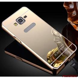 Argentina G530S6 edge Luxury Gold Plating Armor Aluminium Frame + Mirror Acrylic Case para Samsung Galaxy s7 s7 edgeBack Cover Suministro