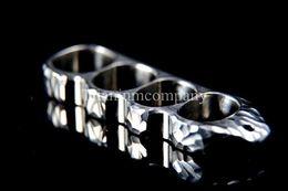 Wholesale Finger Gear - Titanium TC4 EDC 4 four finger Ring Hand Knuckles Engraving Surface 104g