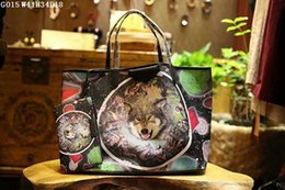 Wholesale Material Shopping Bags - Women fashion totes Exclusive imported material plus real leather 41cm large volume shopping totes or casual bags matched with a wallet