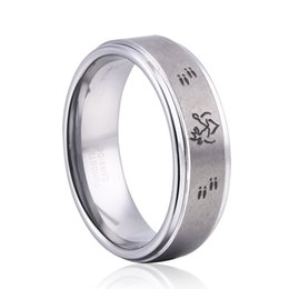 Wholesale Tungsten Carbide Rings Wholesale China - 8mm tungsten carbide ring Jewelry Deer Antler ring her buck his doe ring for your chirstmas gift Tungsten Ring 8MM Size 4-13