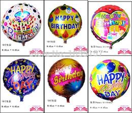 2018 Birthday Mylar Balloon Freies Verschiffen Alles Gute Zum Geburtstag Folie Ballon Partei