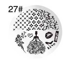 Wholesale Templates For Printing - Wholesale- DIY fashion steel nail Stamp Stamping Image Konad Plate Print Nail Art Template Plate for Women Lady Beauty Tool 1pcs lot om27