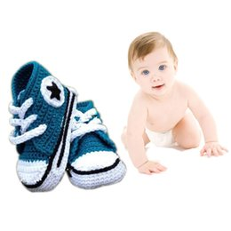 Wholesale Crocheted Kids Shoes Boots - 2015 Baby Boot First Walker Knitted Shoes Newborn Baby Shoes Running Sport Baby Princess Shoes Crochet Kid Shoes