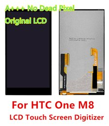 Wholesale One Touch Panel - For HTC One M8 Full New Original LCD Display With Touch Screen Digitizer Completed Assembly Free Shipping