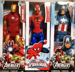 "Wholesale Arriving Goods - new arrives 12""30CM Marvel Heros Captain America  Iron man spider-man Superhero PVC Action Figure Toy Iran Man 3 Ultimate"