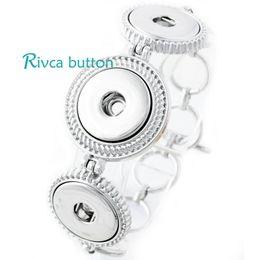 Wholesale Silver Rhinestone Bar Bracelet - P00685 Hot Wholesale Snap Bracelet&Bangles Newest Design Antique Silver Plated Vintage Chain noosa chunks Bracelet 4 Color FIt Snaps Jewelry