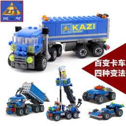 Wholesale Enlighten Kazi - FG1511 Christmas gift Enlighten Child 6409 educational toys Dumper Truck KAZI DIY toys building block sets,children toys free Shipping