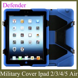 Wholesale Duty Case Ipad - apple PC heavy duty stand case military with screen protector for ipad 2 3 4 5 ipad air defender case waterproof PCC001