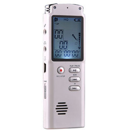 Wholesale Telephone Recording - T60 Digital Voice Recorder 4 8GB LCD Display voice recording Line-in Telephone Recorder T60 audio recorder Dictaphone Pen with MP3 Player