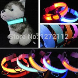 Wholesale Necklace Training For Dogs - Quick Release LED Lights Pet cat Dog Collar Leads safety harness Training Glow necklace flashing lighting up XS S M L XL For dog