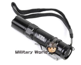 Wholesale U2 Aa Flashlight - Perfect Combination Ultrafire V20 Cree XM-L2 U2 LED Flashlight 425LM 1 Mode 1*AA + Rotatable LED Torch Sleeve Case Free Shipping