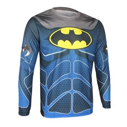 Wholesale Hero Bikes - 2015 New Arrival Winter Thermal Fleece Cycling Warm Shirts Long Sleeves Cycling Jerseys Super Hero s Bike Jackets Windproof Spider-man New
