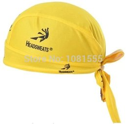 Wholesale Mesh Bicycle Gloves - Wholesale-Yellow Cycling Pirate CAP Le Tour De France Bike Ride Elastic Mesh Coverchief Sportswear Headgear Headband Bicycle Bandanas Hat
