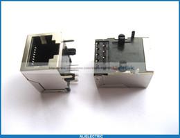 Wholesale Rj45 Jacks - 50 Pcs RJ45 Modular Network PCB Jack 59 8P LAN Connector