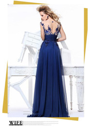 Wholesale Party Host - Wholesale,2015 fashion sexy blue lace row perspective backless wedding bridal gowns dinner party host clothing stage.evening dresses.