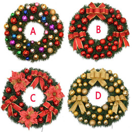 Wholesale Door Gift For Christmas - 40cm Christmas Wreath Garland High-grade Pinecone Christmas Decorations For Door Wall Windows Christmas Trees As Present Gift