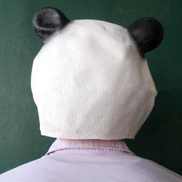 Wholesale Cute Panda Cosplay - Wholesale-Cute Panda Mask For Masked Party Funny Anime Cosplay Masks For Men Women Teenagers Funny Costumes