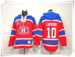 Лучшие цены на хоккейный джерси онлайн-Хоккей толстовки трикотажные изделия Canadiens мужчины #10LAFLEUR 33 Рой 31 Цена 27 Galchenyuk красный лучшее качество шить трикотажные изделия спорт Джерси Mix заказ