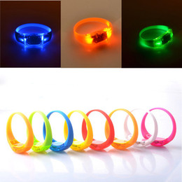 Wholesale Asian Wholesale Led - Bracelet Bangle for Women Charm Bracelets Voice Control Shake Luminous LED Bracelet