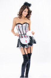 Wholesale Cheap Maid Costumes - movie costumes Sexy Bloody Zombie French Maid Halloween Costumes LC8630 Cheap price Free Shipping Drop Shipping clothes woman