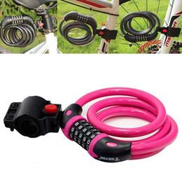 2019 пластиковые велосипедные педали 1x5 значный кодовый велосипед Велоспорт Ключ Код стали цепи провода кабеля блокировки 12мм * 1200мм с кронштейн 6 цвета