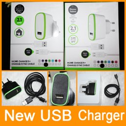 Wholesale V8 Wall Charger - New Home Wall Charger + Cable V8 Micro For HTC Samsung S6 edge S7 S7 edge DHL Free shipping