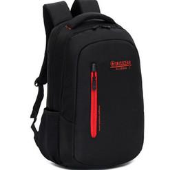 Wholesale Traveling Backpacks - Wholesale-Men Laptop Backpack Swiss Gear Women Traveling Daily Backpack Unisex Hiking Bag 15' notebook School Bag Camping Bag Mochila