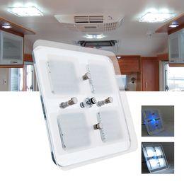Wholesale Rv Lights Led - 600 Lumens LED Lamp 12V DC Cool White LED Crystaloof Ceiling Light Caravan RV Car Motorhome Marine