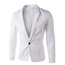 Wholesale Loose Fitting Coats - New Men's Coat Slim Fit One Button Suit Blazer Cardigan Outwear Business Jacket