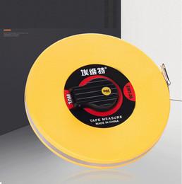 Free 50m main disque flexible règle outil de mesure en cuir de fibre de mesure ruban à main outils pour l'ingénierie mesure ? partir de fabricateur