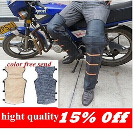 Wholesale Thermal Brace - Hot! Free shipping outdoor thermal knee motorcycle riding electric battery car thicker Rhombus knee brace cold Leggings