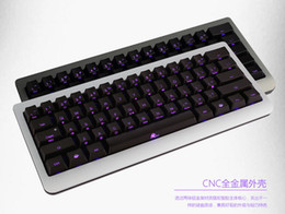 Wholesale Cherry Mini Keyboard - Wholesale-ducky mini 60% compact backlight CNC metal case gaming mechanical keyboard cherry mx switches brown red game keyboard