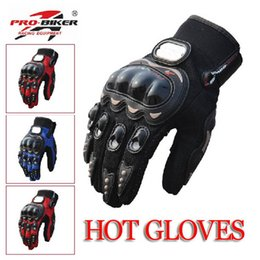 Wholesale Motorcycle Performance - Wholesale-Pro-biker knight Cheapest Motorcycle Bike Racing Full Finger Gloves Protective Racing Performance Glove Accessories&Parts