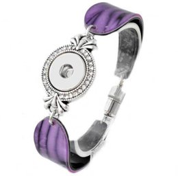 Wholesale Silver Jewellry Sets - 9Colors Colourful 18mm button snap vintage noosa bracelet ginger snap jewellry women interchangeable adjustable 2017 Chirstmas