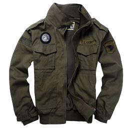 Wholesale Military Rip Stop - Winter outdoor camping Hiking casual jackets Men's 100% cotton Military Tactical coats pilot 101 air force bomber jacket
