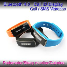 Wholesale Cheapest Iphone Display - Cheapest Bluetooth Bracelets Bluetooth Wrist Watch Support Caller ID Display and message vibration for iphone 6 6 plus Samsung Andorid phone